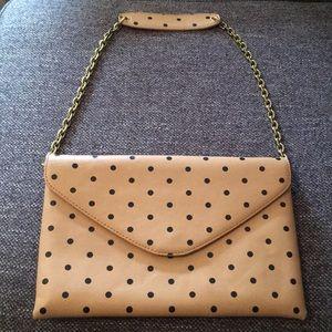 J. Crew polka dot purse